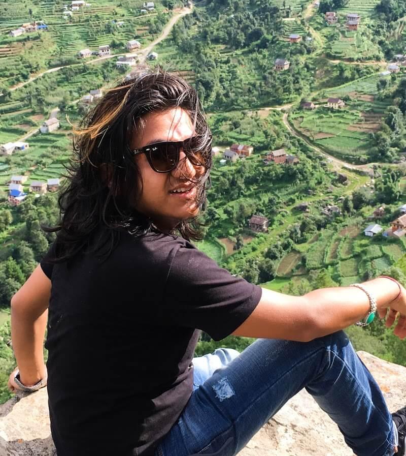 Jeevan Dhakal - Wait wait -- Let me pose first - Daman, nepal