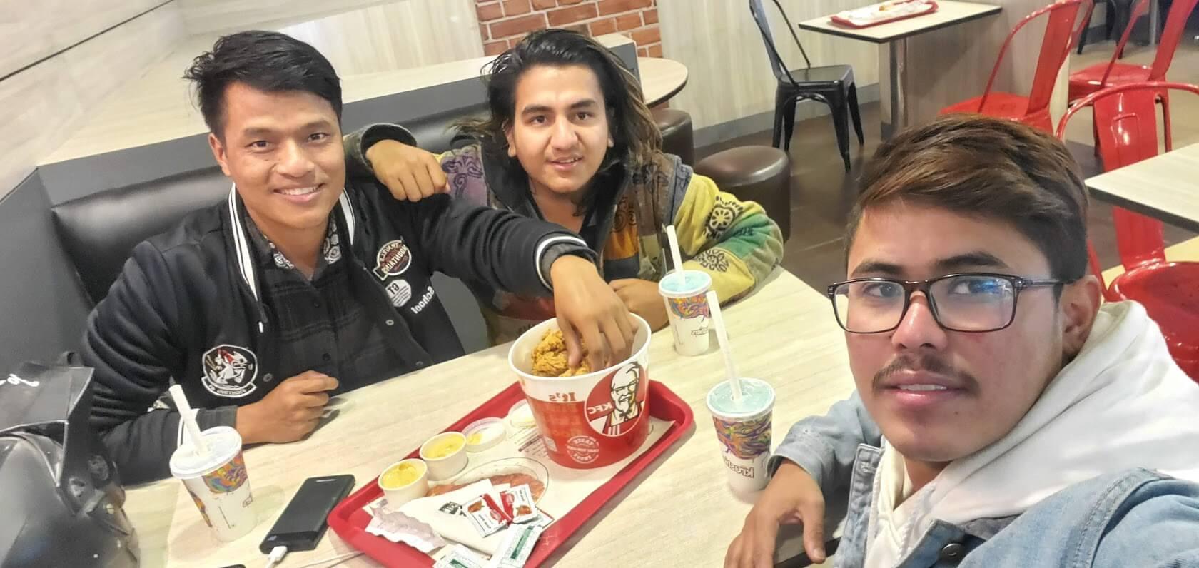 Jeevan Dhakal - Free food are always GOOD - KFC, Kathmandu